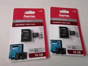 2X Hama Speicherkarten 16 GB NEU/OVP