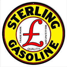Sterling Motor Oil Reproduction Metal  Sign 14×14