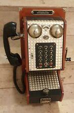 Nostalgie Wand Wählscheibentelefon aus Holz