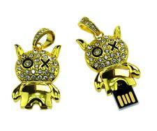 32 GB USB-Stick USB 2.0 Flash Drive Kartoon Figur Katze Tier gold X-Auge