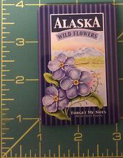 Alaska Magnet - Alaska Forget Me not Tinplate Magnet - Alaska State Flower