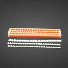 Perlenkette Formpaste Perlen Fondant Kuchen Silikon Tonform Dekoration G4
