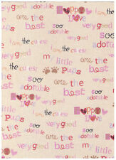 """My Little Puppy Dog Words Allover Fabric 20"""""""