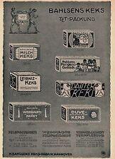 1914 Bahlsen Keks-Fabrik Hannover ca. 17x27 cm original Printwerbung