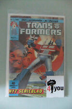 4.0 VG VERY GOOD TRANSFORMERS # 1 DANISH EURO VARIANT  OW/CP YOP 1988