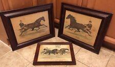3 RARE Currier & Ives Prints - Trotter Horse Racing - Dexter, Ethan Allen & Mate