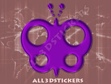 3D Sticker Decal Resin Domed Butterfly Adhesive Decal  Purple