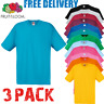 3 x  Fruit of the Loom MEN'S T-SHIRT COTTON PLAIN ALL SIZES S-3XL TSHIRTS PACK