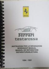 FERRARI TESTAROSSA WORKSHOP REPAIR MANUAL 84-91 REPRINTED COMB BOUND