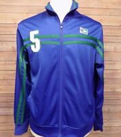 Urban Pipeline Up Men's Track Jacket Large #5 Blue Full Zip Long Sleeve