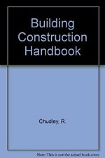 Building Construction Handbook,R. Chudley- 9780434902361