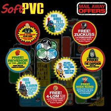 "Kenner STAR WARS Vintage ""Mail-Away Offer"" set of 10 soft PVC patches / coasters"