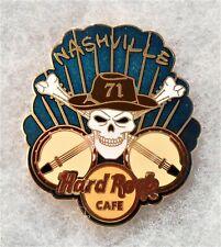 HARD ROCK CAFE NASHVILLE SKULL & BONES WITH CROSSED BANJOS PIN # 83977