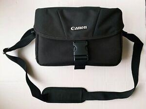 Canon Padded Shoulder Bag Black with Adjustable Shoulder Strap