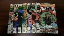 1979 MARVEL COMICS MAN-THING LOT OF 7 #1-7 LOW GRADE SEE PIC MOISTURE DAMAGE KEY