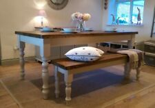 HAND CRAFTED 6FT RUSTIC FARMHOUSE TABLE AND BENCH ANY F&B COLOUR