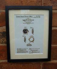 USA Patent Vintage ROLEX fashion Wrist Watch Case MOUNTED PRINT 1963 gift