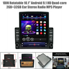 """1DIN Rotatable 10.1"""" Android9.1 Quad-core 2+32GB Car GPS Stereo Radio MP5 Player"""