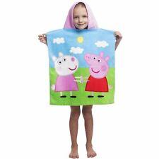 Peppa Pig Toalla Poncho con Capucha 100% Cotton Suzy Ovejas Niños