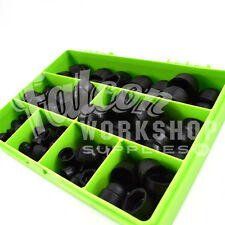 145 ASSORTED PIECE PLASTIC NUT & BOLT COVERS M4 M5 M6 M8 M10 M12 KIT BLACK