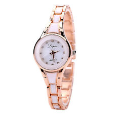 Luxury Women's Lady Rhinestone Crystal Stainless Steel Quartz Analog Wrist Watch