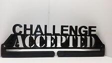 Challenge Accepted Medal Display Holder Hanger Medal Rack 5K 10K Half Marathon