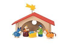 Selecta Weihnachtskrippe Holz Krippenstall Krippenfigur Kinderkrippe 5220 Stall