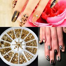 Gold rhinestones nail art accessories ebay new sale 5 sizes diy 3d nail art decoration acrylic glitter gold rhinestone nice prinsesfo Choice Image