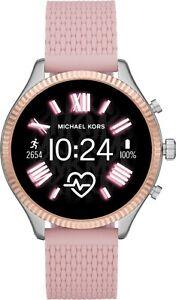 Michael Kors Gen 5 Lexington Smartwatch Silver, Rose Gold Pink MKT5112 Brand New