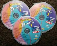 DUETS 3 CDG DISCS CHARTBUSTER KARAOKE R&B,SOUL,COUNTRY,POP 50 SONGS CD+G 5025
