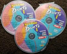 DUETS 3 CDG DISCS CHARTBUSTER KARAOKE R&B,SOUL,COUNTRY,POP 50 SONGS CD+G 5025