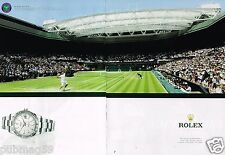 Publicité advertising 2012 (2 pages) La Montre Rolex à Wimbledon