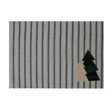 St Nicholas Square Striped Tree Patch Placemat Winter Trees with Stripes NEW
