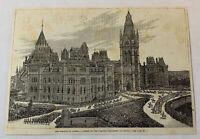 1885 magazine engraving ~ OPENING OF THE DOMINION PARLIAMENT, Ottawa