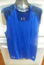 Under Armor, Fitted Youth XL, Heat Gear, NFL, Blue Grey