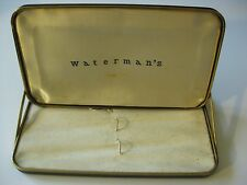 Waterman Vintage Fountain Pen Box Waterman's antique old clam shell holds two