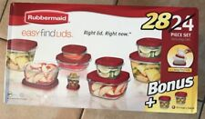 Rubbermaid Easy Find Lids Food Storage Container Set, 24-Piece + 4-Piece Bonus