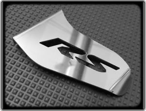 APRILIA RS4 125 Style Polished Stainless Racing Shark Fin, Swingarm Guard
