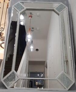 White Silver Premium Quality Large Wall Mirror 60X90cm