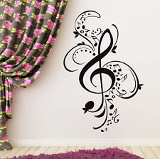 Treble Clef Wall Decals Musical Notes Sticker Music Patterns Vinyl Decal FD56