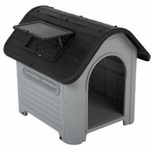 Plastic Dog Kennel Suitable Dogs Cats Both Indoors Outdoors Easy Clean
