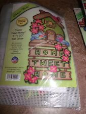 """Design Works HOME TWEET HOME Wall Hanging Plastic Canvas Kit 11"""" x 20"""""""