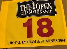 Gold Flag 2001 Official BRITISH OPEN Pin Masters PGA US Open Ryder Cup Fedex Cup