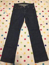 Women's J Crew Dark Blue Bootcut Denim Jeans Size 28R