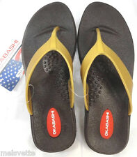 Okasbashi USA Thong Women Sandals-Flip-Flops-Gold-White-or Silver-Sz S: 5-6-NEW!