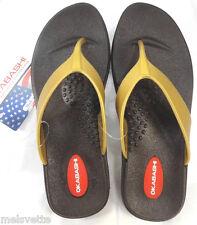 Okasbashi USA Thong Women Sandals-Flip-Flops-Gold-White-or Silver-Sz S: 5-6-NEW!