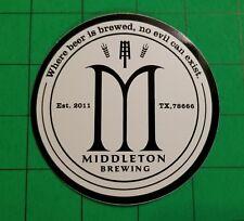 Middleton Brewing San Marcos Texas Sticker Decal