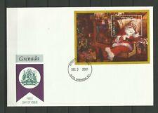 1686.GRENADA 2001 Christmas MNH FDC
