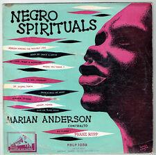 33T 25cm NEGRO SPIRITUALS Disque Marian ANDERSON F. RUPP Piano VOIX MAITRE 1039