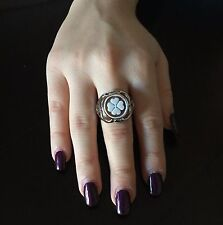 Ring Silver 925 Cameo flower sardonic Made in Italy